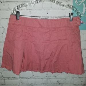 American Eagle Raw Hem Pleated Skirt